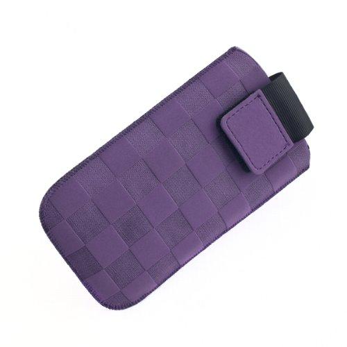 NFE² Etui offen - violett - mit Ausziehlasche und flacher Gürtelschlaufe für Samsung B2710
