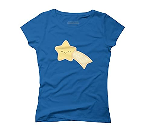 Happy Holidays - Shooting Star Women's 2X-Large Royal Blue Graphic T-Shirt - Design By Humans