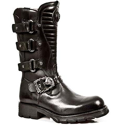 New Rock Boots Hommes Botte - Style 7604 S1 Noir 41 EU