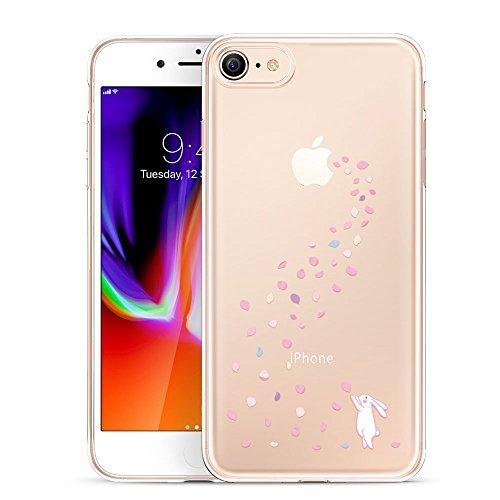 ESR Kompatibel mit iPhone 8 Hülle, iPhone 7 Hülle, Transparent [Weich Silikon][Dünn] mit Tiere Motiv Schutzhülle für iPhone 8, iPhone 7 4,7 Zoll 2017 - Hase