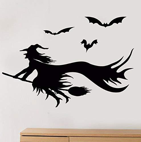 esen Halloween Bat Vinyl Wandtattoo Wohnkultur Wohnzimmer Kunst Removable Wandaufkleber 58 * 84 Cm ()