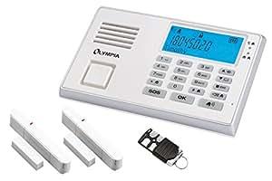 OLYMPIA Drahtloses GSM-Alarmanlagen-Set mit Notruf und Freisprechfunktion, weiß, Modell Protect 9035