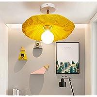 OOFAY Moderne Deckenleuchte Wandlampe 2 Möglichkeiten Zu Verwenden 7W Gang Schlafzimmer Ausstellungshalle Cafe Dekorative Beleuchtung 34 * 14 cm,Yellow