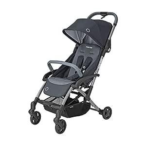 Maxi Cosi Laika Baby-Kinderwagen, einfach zusammenklappbar, ultra-kompakter und federleichter Buggy, ideal für die City, nutzbar ab der Geburt bis ca. 3,5 Jahre, 0-15 kg, essential graphite