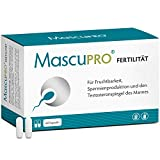 MascuPRO Fertilität Mann - Fruchtbarkeit + Spermienproduktion - 60 Kapseln Tabletten - L- Carnitin, L- Arginin - Vitamine Mann Kinderwunsch