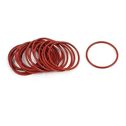 sourcingmap® 20pcs 20mm x 1mm joints toriques en caoutchouc NBR Anneau étanchéité résistant à chaleur rouge passe-fils
