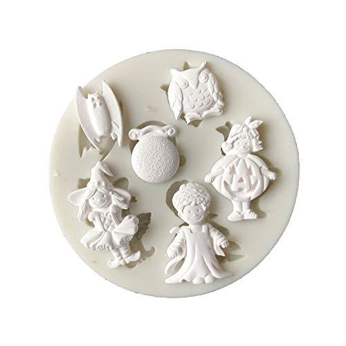 Renendi Backwerkzeug Halloween Requisiten Cosplay Boy Girl DIY Silikon Fondant Kuchen Dessert Form Dekoration Küche Gadget multi (Kreative Selbstgemachte Kostüm)