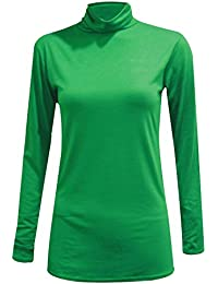 NEW POLO para mujer Jersey de manga larga para TOPS para el cuello de tortuga talla