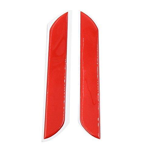 Preisvergleich Produktbild DealMux 2ST Red Arc Stoßabdeckungs-Anti-Kratzer-Aufkleber-Schutz für Auto-Träger