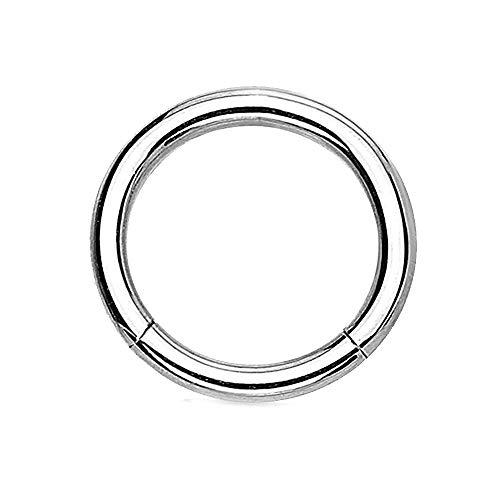 eeddoo Piercing-Ring Segment-Clicker Segment-Ring Silber Edelstahl 1,2 mm x 8 mm