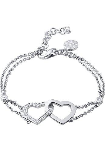 JETTE Silver Damen-Armband Moments of love 925er Silber rhodiniert 25 Kristall One Size, silber