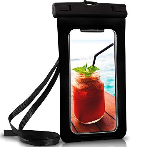 ONEFLOW Wasserdichte Hülle iPhone | Full Cover in Schwarz 360° Unterwasser-Gehäuse Touch Schutzhülle Handy-Hülle für Apple iPhone X XS XS Max 8 7 7Plus/8Plus 6S 6 Plus 5 5S XR Case Handy-Schutz