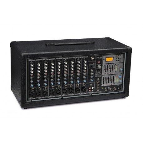 MESA DE MEZCLAS AUTOAMPLIFICADA FONESTAR SMA-912USB 2x390W-RMS 4-OHMS USB/MP3