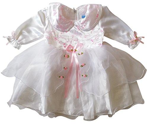Seruna Tauf-Kleid Y05 Gr. 80/86 Baby-Kleider für Mädchen zur Taufe u. Hochzeit Geschenk-e für Babies