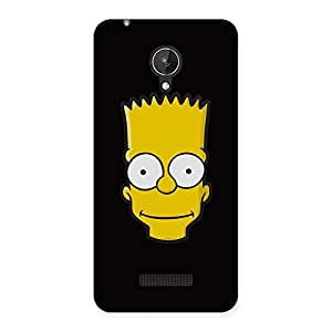 Neo World Yellow Face Back Case Cover for Micromax Canvas Spark Q380
