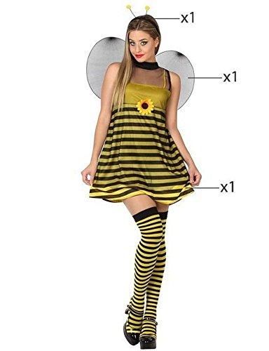 Atosa 26756 - Biene, Damenkostüm, Größe 34/36, gelb/schwarz