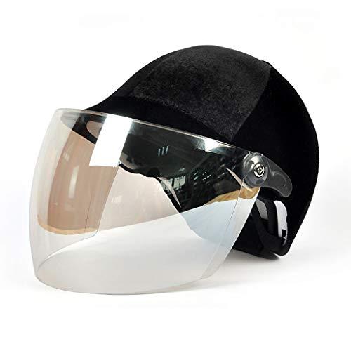 YxlAB Velvet Reithelm, Sonnencreme Ultraviolettes Licht Atmungsaktiv  Einstellbar Sommer Helm Erwachsene (Farbe : C)