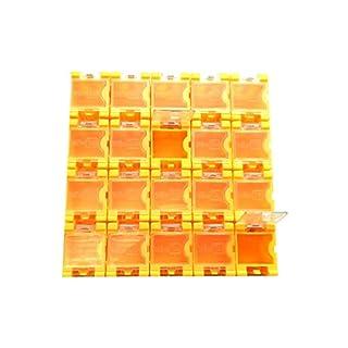 1x 20 Container Box (leer) für SMD Bauelemente Mäuseklo - orange