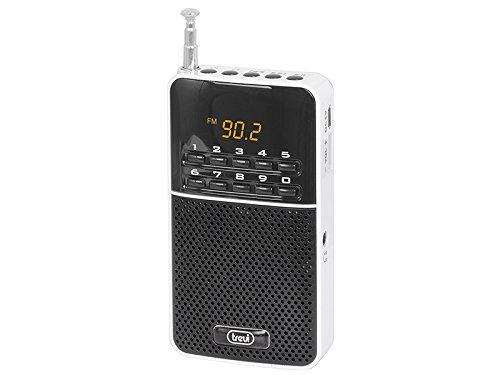 Trevi DR 7300 M Portátil Digital Negro, Color Blanco - Radio (3,5 mm,