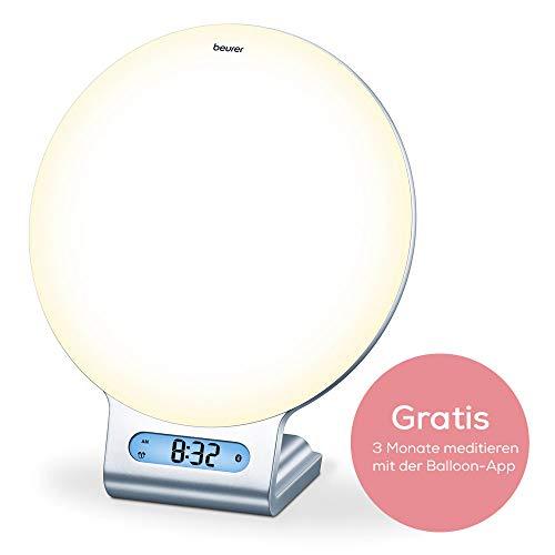 Beurer WL 75 Lichtwecker für sanftes Einschlafen und Aufwachen, inklusive Gutscheincode für die Meditations-App Balloon