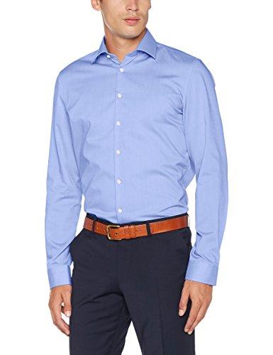 Seidensticker Herren Businesshemd Slim Bügelfrei Stretch Blau (Blau 13)