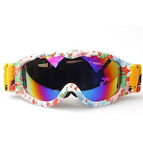 ZYSMC Gafas De Esquí para Niños, De Doble Capa Esférica Anti-Niebla Niños Gafas De Esquí Escalada Al Aire Libre Gafas De Esquí,6