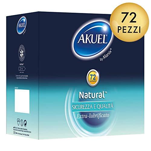 Akuel Natural, Preservativi extra-lubrificati (72)