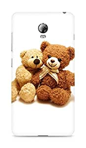 Amez designer printed 3d premium high quality back case cover for Lenovo Vibe P1 (I Love You Teddy Bear)