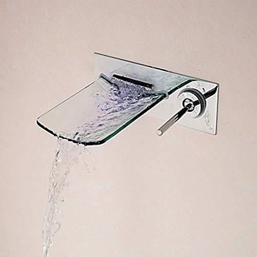 Preisvergleich Produktbild FengHe Praktisch Waschtischarmatur zur Wandmontage - Wasserfall Chrom Einhand-Einlochbatterie zur Wandmontage / Messing dauerhaft