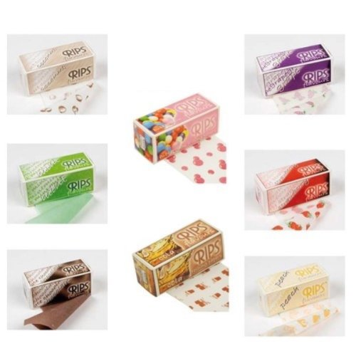 Cartine aromatizzate per sigarette LIP, gusti assortiti, 3 rotoli da Trendz