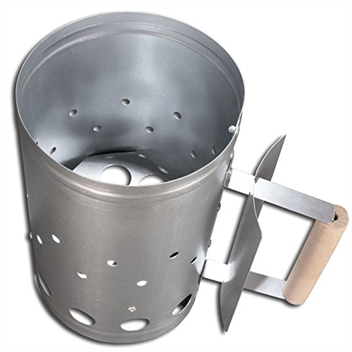 bick.shop Grillanzünder XXL Anzündkamin Holzkohleanzünder Grillstarter Grillzubehör Kohleanzünder schnellanzünder