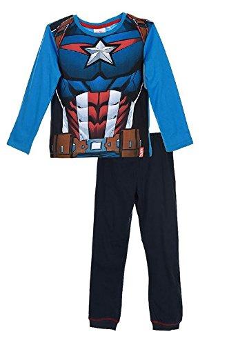 293f880f94 Marvel Jungen Pyjama-Sets Avengers Hero Uniform, Blau (HQ2112), 116