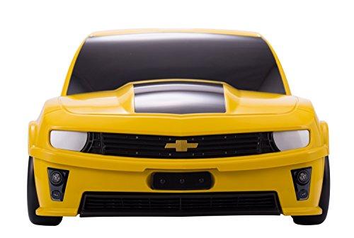 Kinderkoffer Hauptstadtkoffer Serie Kids Rennauto 18 Liter - (Gelb) + Kofferanhänger