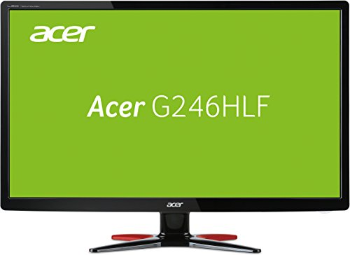 Acer G246HLFbid 24 inch FHD Gaming Monitor (100M:1, 1920 x 1080, 250 cd/m2, 1 ms, DVI/HDMI) - Black/Red