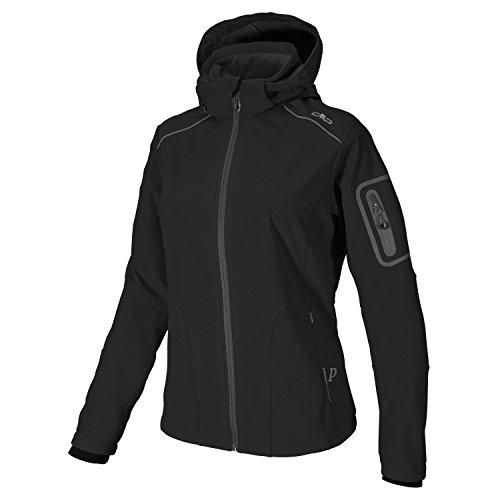 CMP Softshell Outdoor Jacke Damen Franceska, Farbe:Black, Größe:36