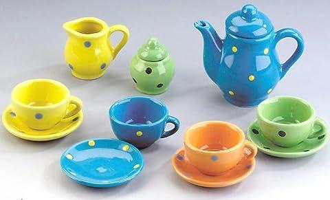 Teeservice aus Porzellan Geschirr (Porzellan Spielzeug)