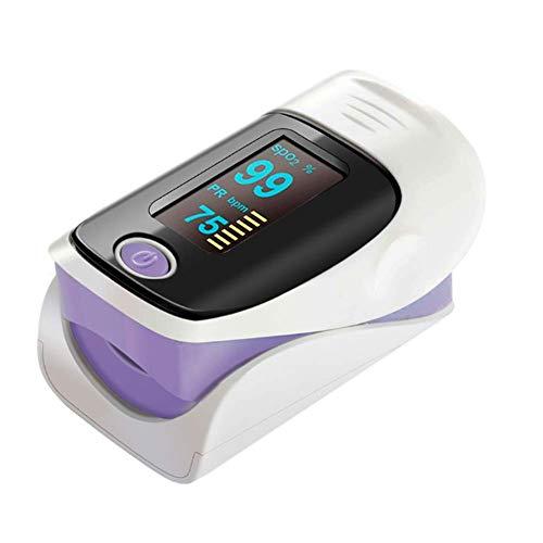 Eachann-Hsi LED-hochauflösender Bildschirm-Fingerspitzen-Blutsauerstoffmonitor, Finger-Druck-Blutsauerstoffsättigungs-Messgerät, geeignet für die ganze Familie, lila