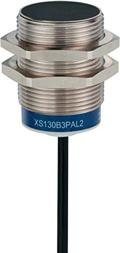 Schneider XS530B1PAL2 XS5-Induktiver Näherungsschalter M30, L43mm, Messing, Sn 10mm, 12-24 V DC, Kabel, 2m