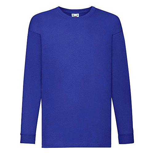 Fruit of the Loom - Kids Langarm T-Shirt Value Weight T 164,Royal (Langarm-shirt Blau)