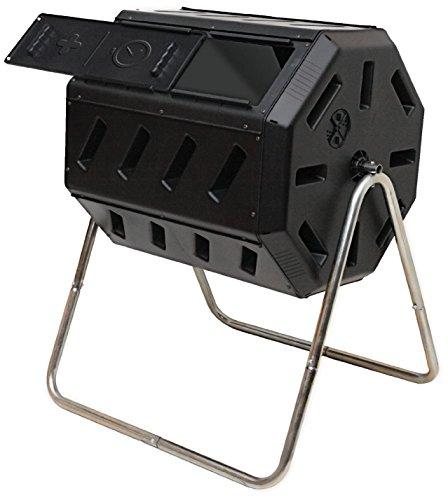 Yimby Tumbler Kompost, Farbe schwarz Kompostierungsanlage 37 Gallon schwarz