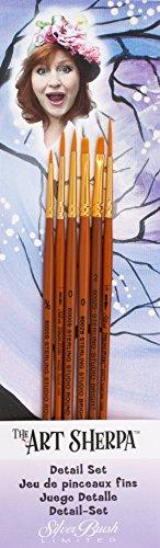 Art Sherpa Detail Brush Set 6/Pkg- Jackson Sherpa