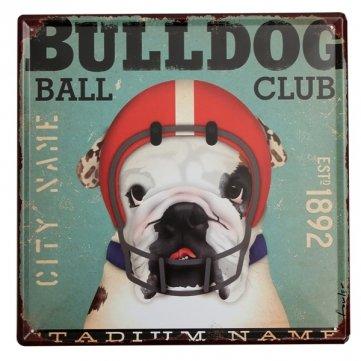 Bulldog Targa in metallo placca di metallo vintage...