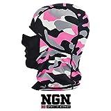 NGN Balaclava Pink/Rosa Carmouflage Damen – Sturmhaube Camo Bunt für Ski, Snowboard & Motorrad | Mädchen Sturmmaske | Atmungsaktive Skimaske | Winter Gesichtsmaske | Outdoor Face-Mask | Motorradmaske
