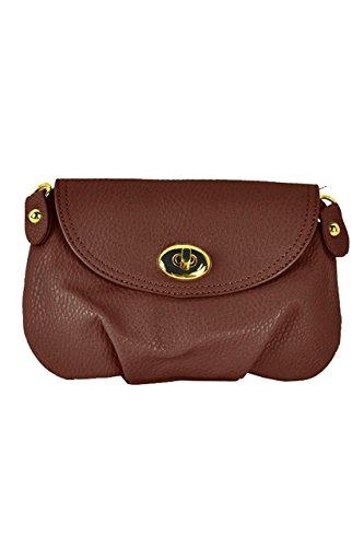 TOOGOO(R) Borsa a tracolla della borsa della borsa della borsa del messaggero delle donne borsa-Giallo Marrone scuro