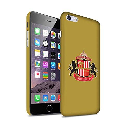 Offiziell Sunderland AFC Hülle / Matte Snap-On Case für Apple iPhone 6S+/Plus / Pack 6pcs Muster / SAFC Fußball Crest Kollektion Gold