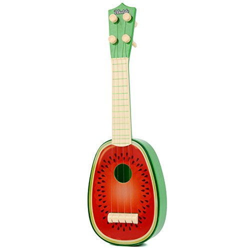 Delmkin Kinder Ukulele Mini Obst Gitarre Spielzeug (Wassermelone)