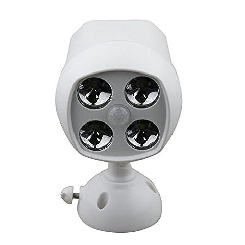 Lampe Murale LESHP Lampe Étanche 600 Lumen Projecteur Spotlight Résistant