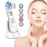 Ultrasuoni Viso Antirughe, Ultrasuoni Terapia LED Radiofrequenza Viso e Corpo Massaggiatore Viso Antirughe, dispositivo di massaggio terapia mesoterapia a 6 modalità LED