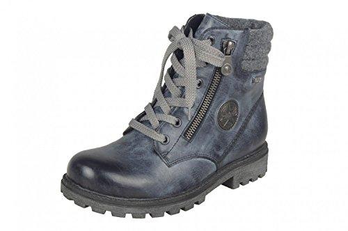 Rieker Mädchen K7472 Combat Boots jeans/altsilber/granit