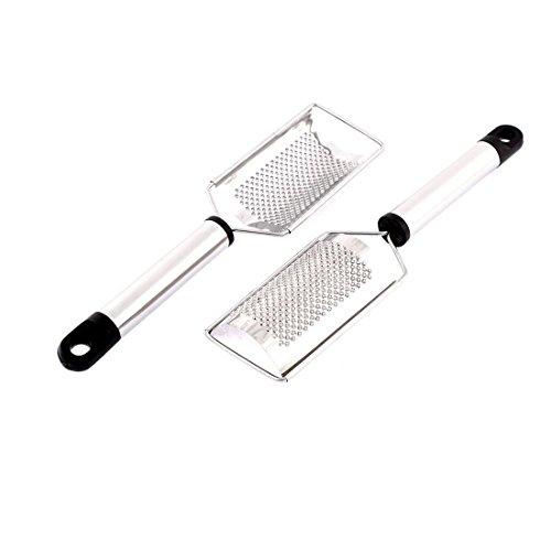 DealMux Acero Inoxidable en Forma de Arco 2pcs ajo Jengibre rallador Fino Shredder
